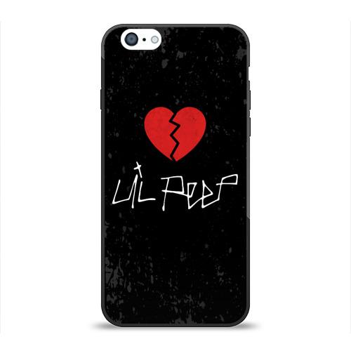 Чехол для Apple iPhone 6 силиконовый глянцевый Lil Peep Broken Heart Фото 01