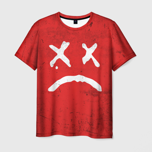 Мужская футболка 3D Lil Peep Sad Face