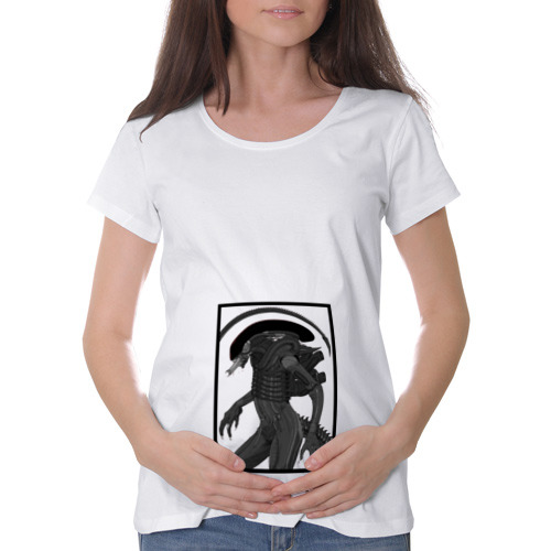 Футболка для беременных хлопок Чужой в рамке
