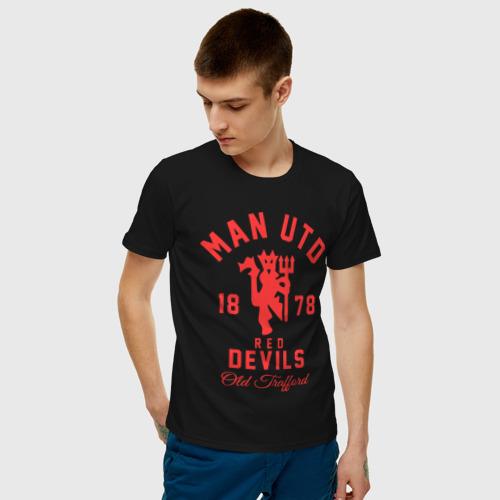Мужская футболка хлопок Манчестер Юнайтед Фото 01