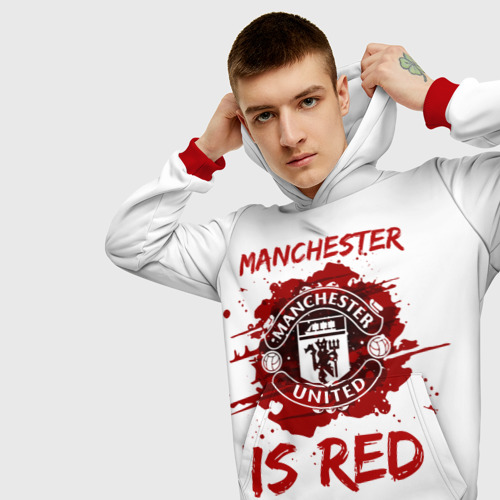 Мужская толстовка 3D Манчестер Юнайтед
