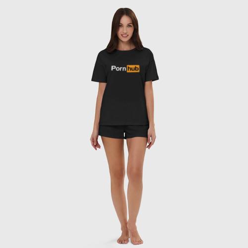 Женская пижама с шортиками хлопок PornHub Фото 01