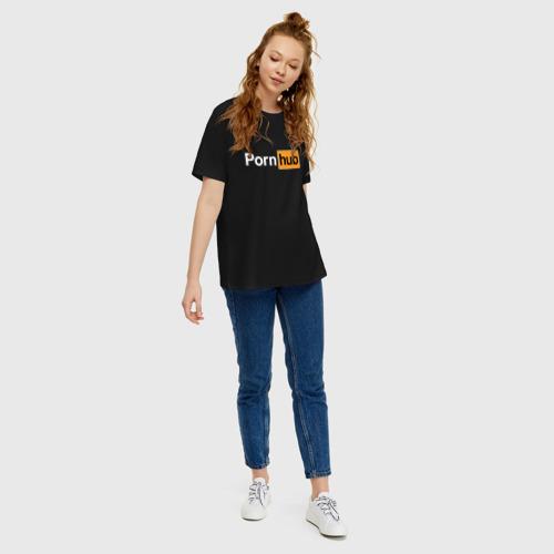 Женская футболка хлопок Oversize PornHub Фото 01