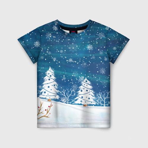 Детская футболка 3D Xmas Trees 116 фото