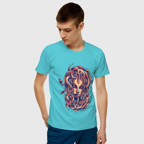 Мужская футболка хлопок Горгона Медуза Фото 01