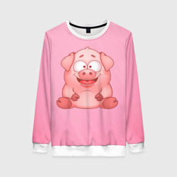 Милая веселая свинка