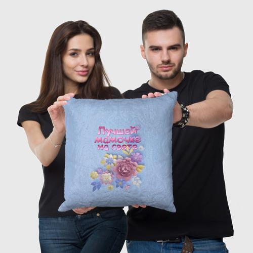 Подушка 3D Лучшей мамочке Фото 01