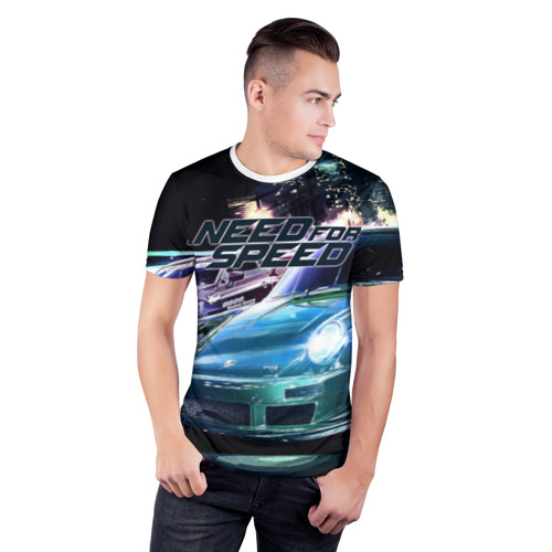 Мужская футболка 3D спортивная Need for Speed Фото 01