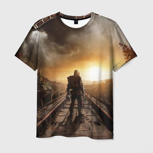 Мужская футболка 3D  Фото 01, Metro 2033 постапокалипсис