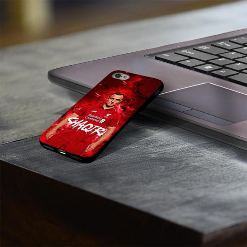 Чехол для Apple iPhone 8 силиконовый глянцевый Shaqiri Liverpool Фото 01