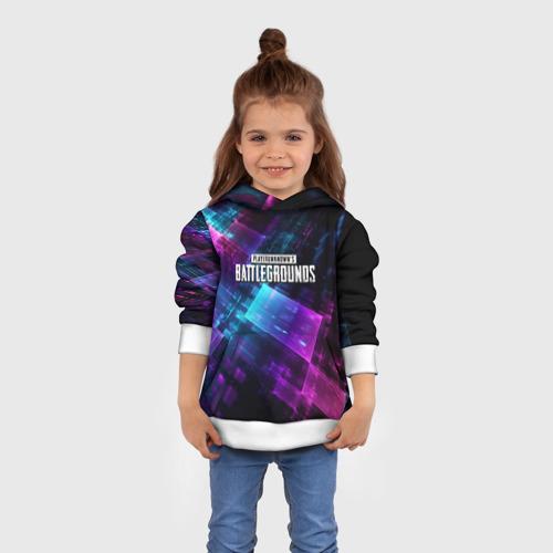 Детская толстовка 3D Pubg neon style 2019