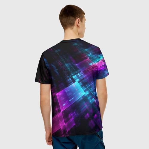 Мужская футболка 3D  Фото 02, Pubg neon style 2019