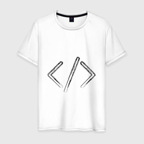 Мужская футболка хлопок Программирование