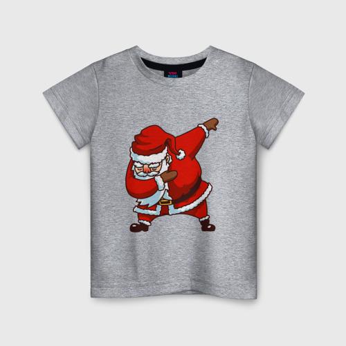 Детская футболка хлопок Dabbing Santa 140 фото