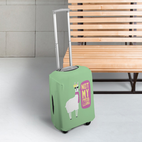 Чехол для чемодана 3D Лама Фото 01