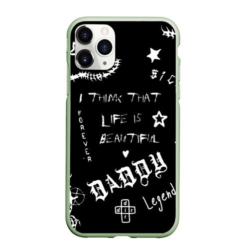 Чехол для iPhone 11 Pro Max матовый Life is beautiful Фото 01