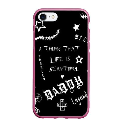 Чехол для iPhone 7/8 матовый Life is beautiful Фото 01