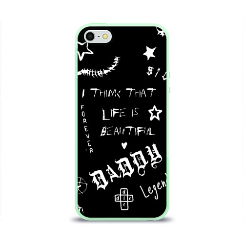 Чехол для iPhone 5/5S глянцевый Life is beautiful Фото 01