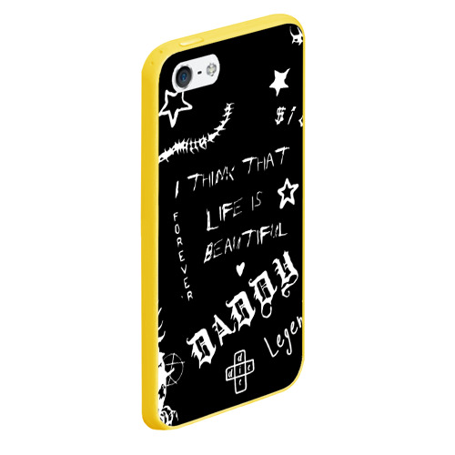 Чехол для iPhone 5/5S матовый Life is beautiful Фото 01