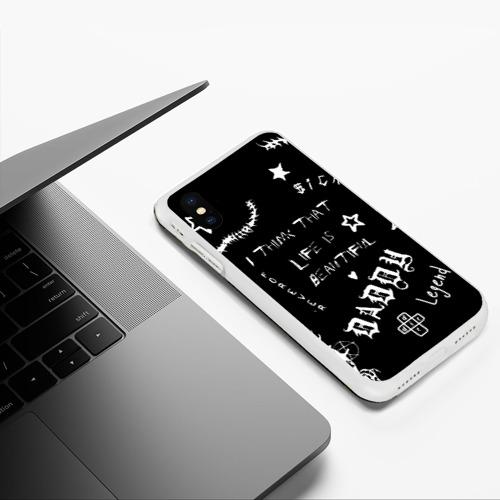 Чехол для iPhone XS Max матовый Life is beautiful Фото 01