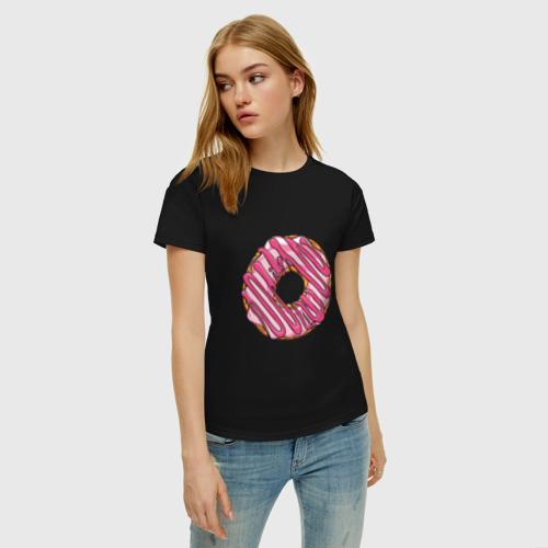 Женская футболка хлопок Пончик Фото 01