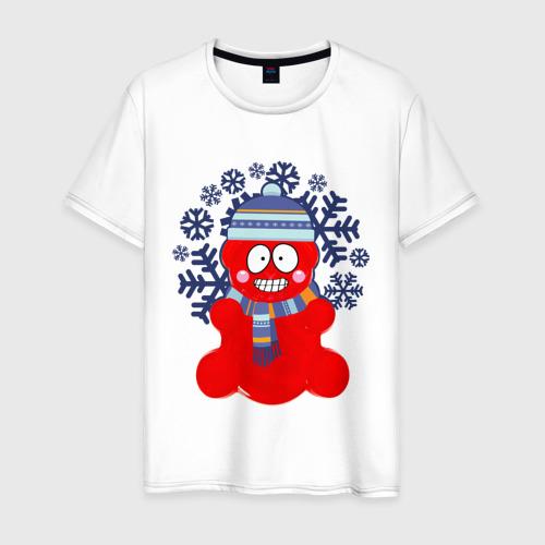Мужская футболка хлопок Валерка в шапке