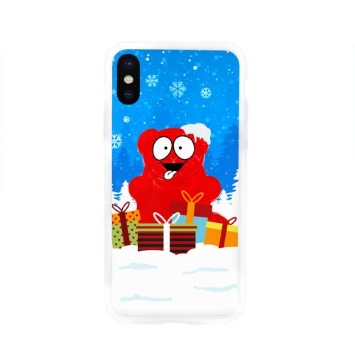 Чехол для Apple iPhone X силиконовый глянцевый Валерка любит подарки