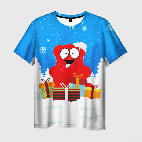 Мужская футболка 3D Валерка любит подарки