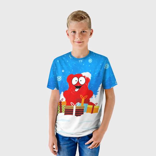 Детская футболка 3D  Фото 01, Валерка любит подарки