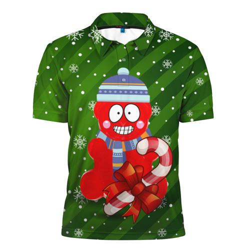 Мужская рубашка поло 3D Валерка с карамелькой