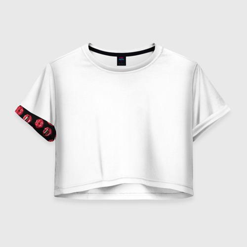 Женская футболка Crop-top 3D Сочный Губки Фото 01