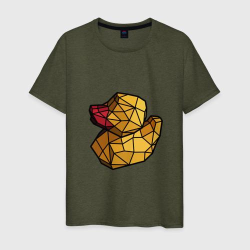 Мужская футболка хлопок Геометрическая уточка Фото 01