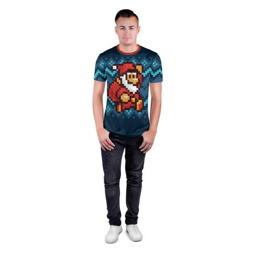 Мужская футболка 3D спортивная  Фото 04, Марио Санта Клаус