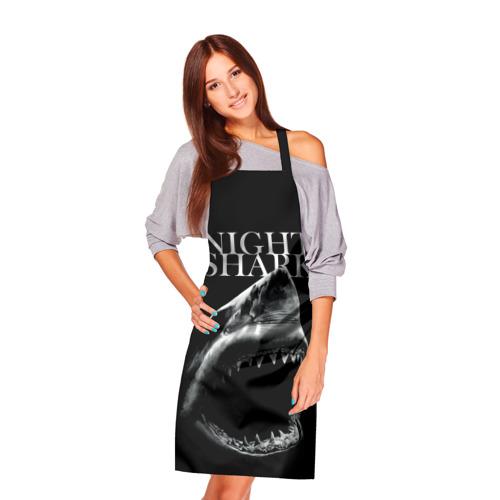 Фартук 3D Night shark Фото 01