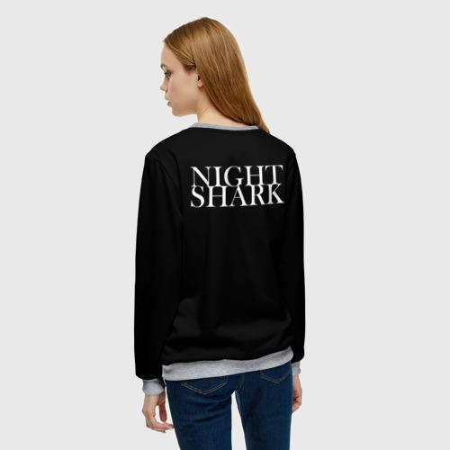 Женский свитшот 3D Night shark Фото 01