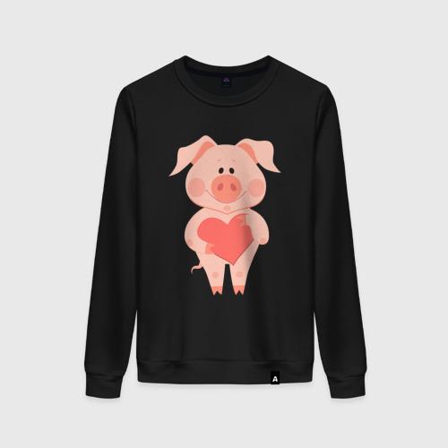 Женский свитшот хлопок Love Pig Фото 01
