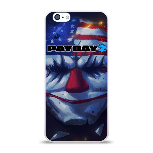 Чехол для Apple iPhone 6 силиконовый глянцевый Payday 2 Фото 01