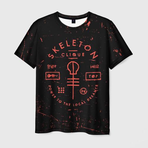Мужская футболка 3D  Фото 01, TOP - Skeleton Clique