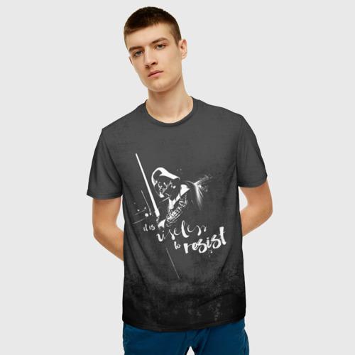 Мужская футболка 3D Сопротивление бесполезно Фото 01