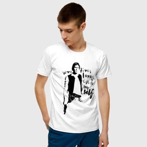 Мужская футболка хлопок Хан Соло Фото 01