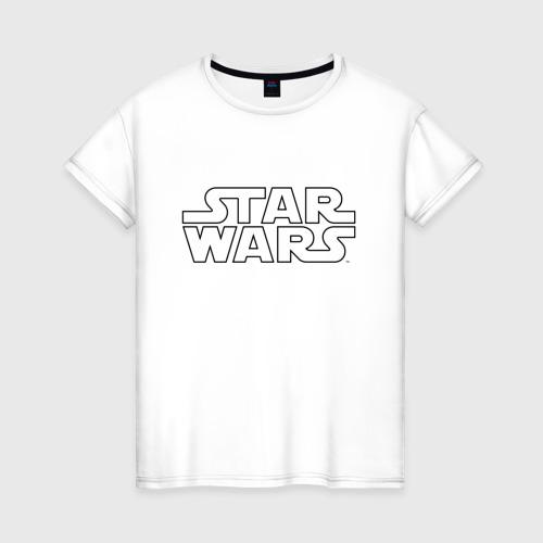 Женская футболка хлопок STAR WARS logo Фото 01
