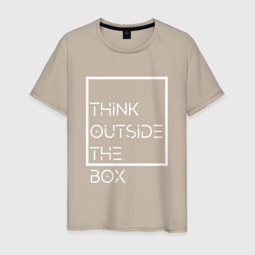 Мужская футболка хлопок Think outside the box Фото 01
