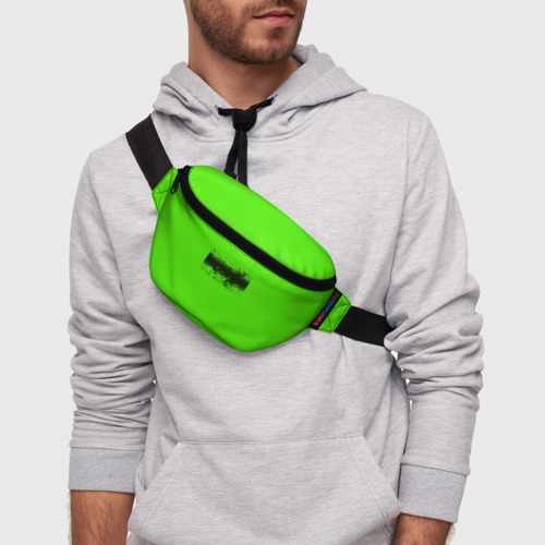 Поясная сумка 3D Гранж зеленый Фото 01
