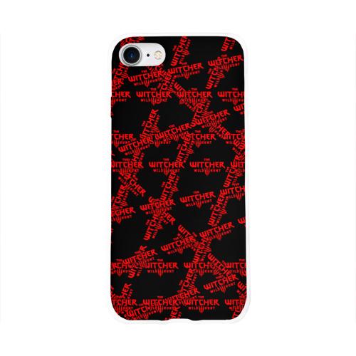 Чехол для Apple iPhone 8 силиконовый глянцевый Ведьмак 3: Дикая Охота Фото 01