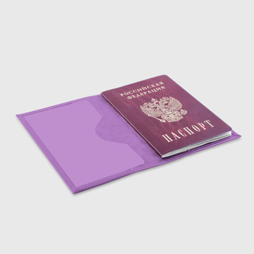 Обложка для паспорта матовая кожа Anime (Senpai 1) Фото 01