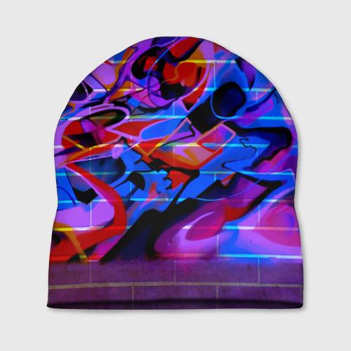 Шапка 3D Неоновое граффити