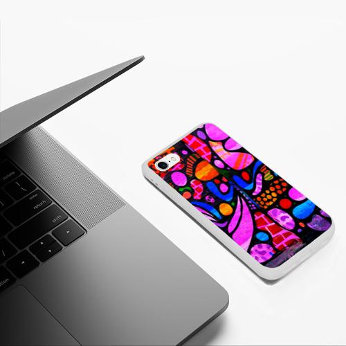 Чехол для iPhone 6/6S матовый Неоновое граффити Фото 01