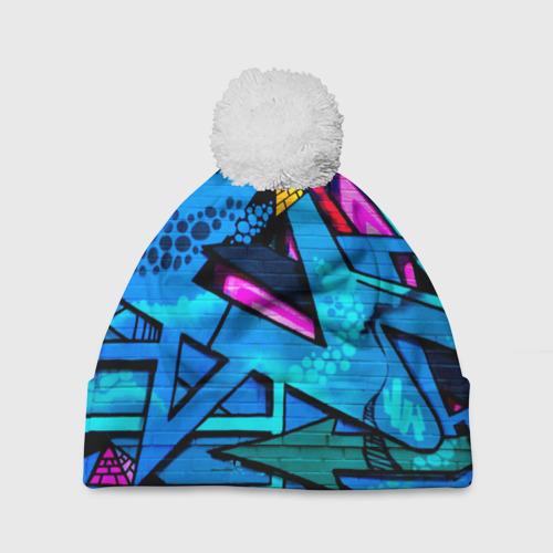 Шапка 3D c помпоном GRAFFITY