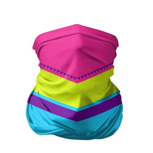 Бандана-труба 3D Цветные треугольники_голубой