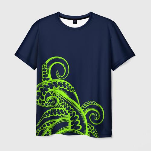 Мужская футболка 3D Кислотный осьминожка